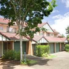 Rental info for UNFURNISHED TWO BEDROOM TOWNHOUSE IN GREAT LOCATION in the Brisbane area