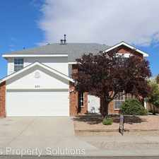 Rental info for 8123 Sheffield Place NW in the Los Volcanes area