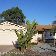 Rental info for 1047 Grouse in the El Cajon area