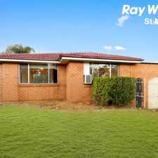 Rental info for LARGE 3 BEDROOM FAMILY HOME in the Sydney area