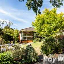Rental info for FABULOUS FAMILY LIVING in the Yallambie area