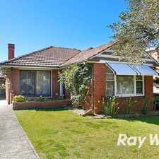 Rental info for PEACEFUL FAMILY HOME IN BAY SIDE LOCATION in the Kogarah Bay area