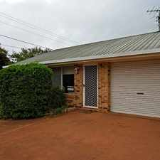 Rental info for TWO BEDROOM UNIT IN HARRISTOWN in the Toowoomba area