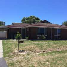 Rental info for 3 bedroom in Kelmscott