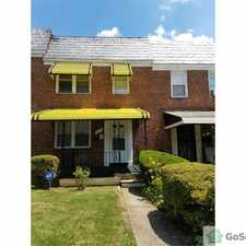 Rental info for Marvelous 3 bed room 2 full bath with an In- law suite, townhouse/Villa located in West Baltimore. Newly reconstructed and ready to move in. in the Rognel Heights area