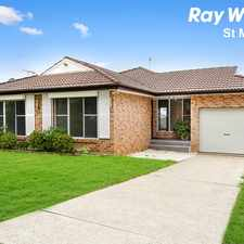 Rental info for LARGE MODERN FAMILY HOME IN A QUIET LOCALE in the Blacktown area