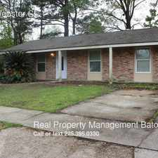 Rental info for 16570 Webster St. in the Baton Rouge area