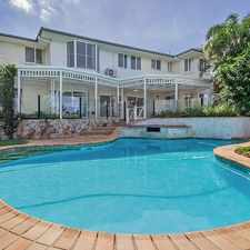 Rental info for *** APPLICATION APPROVED *** EXECUTIVE RESIDENCE IN PRESTIGEOUS MT OMMANEY COURTS in the Mount Ommaney area