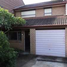 Rental info for 2 BEDROOM TOWNHOUSE - NO CARPET!!! in the Sydney area