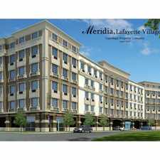 Rental info for Meridia Lafayette Village