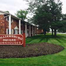 Rental info for Williamsburg Square Townhouses in the Lorain area