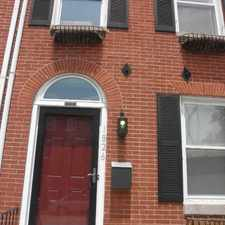 Rental info for 1826 E. Lombard St. in the Upper Fells Point area