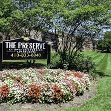 Rental info for The Preserve at Owings Crossing Apartment Homes