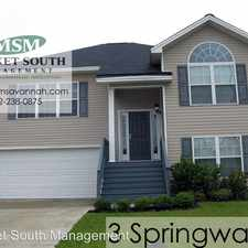 Rental info for 3 Springwater Drive