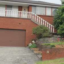 Rental info for House with Views in the Wollongong area