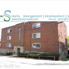 Rental info for 28 Wasson Place Apartment 1 in the Pittsburgh area