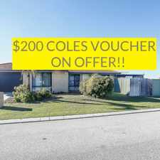 Rental info for $200 COLES VOUCHER ON OFFER in the Quinns Rocks area