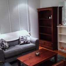 Rental info for BACK UNIT ON A SMALL BLOCK OF 8