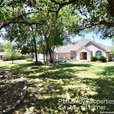 Rental info for 8821 TUSCAN HILLS DR in the San Antonio area