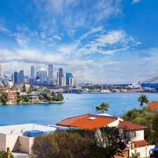 Rental info for BEST VALUE PRICE IN POINT PIPER