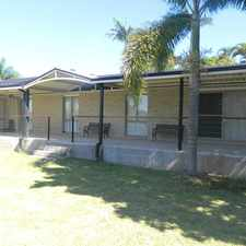 Rental info for 5 BED/STUDY. 2 BATH. 2 LIVING AREAS. FANS & A/C. ** INCL GARDEN MAINTENANCE ** in the Sinnamon Park area