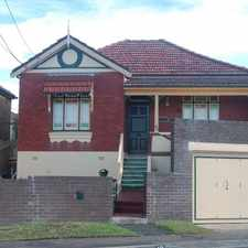 Rental info for SIMPLY STUNNING FAMILY HOME in the Hurlstone Park area