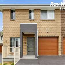 Rental info for Brand New Stylish Street Facing Town Home - Short Walk to Quakers Hill Train Station