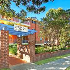 Rental info for Elevated North/East Corner Ground Floor Unit in the Hornsby area