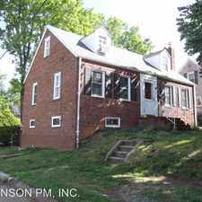 Rental info for 4607 CARLIN SPRINGS RD. in the Bluemont area