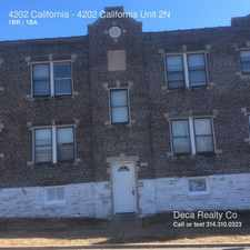 Rental info for 4202 California in the St. Louis area