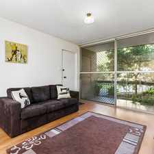 Rental info for 2 bedroom ground floor unit close to public transport!