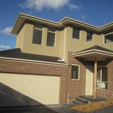 Rental info for Sophisticated And Stylish Town House in the Melbourne area