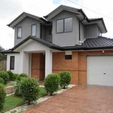 Rental info for WELL PRESENTED, MODERN AND SPACIOUS LIVING in the Melbourne area