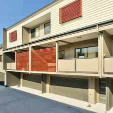 Rental info for Modern three level townhouse in the Brisbane area