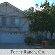 Rental info for This Is A Beautiful Home Nestled In A Very Quie... in the Porter Ranch area