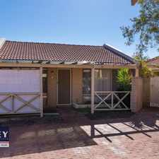 Rental info for Tidy villa in small complex close to beach, cafes and shops in the Perth area