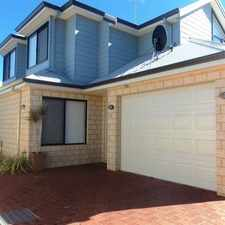 Rental info for SMART 2 STOREY TOWNHOUSE IN SOUGHT AFTER LOCATION! in the Perth area