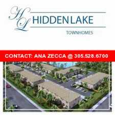 Rental info for HIDDEN LAKE TOWNHOUSES - STARTING IN THE LOWS $300'S - BRAND NEW - IN THE HEART OF KENDALL