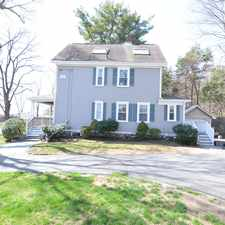 Rental info for Stately Colonial in Weston. Centrally located to major routes and highways. 3 Beds 2.5 Baths!