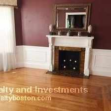 Rental info for 537 Talbot Avenue in the Ashmont area
