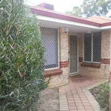Rental info for Quality, Secure and Private- rear unit in the Perth area