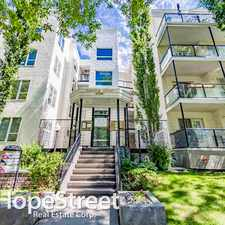 Rental info for 10033 110 Street NW - 2 Bedroom Apartment for Rent in the Downtown area