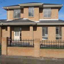 Rental info for NEAR NEW 4 BEDROOM TOWNHOUSE IN A CENTRAL LOCATION in the Melbourne area