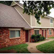 Rental info for 2 Bedroom Townhome for Rent at 51st and Yale in the Tulsa area
