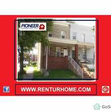 Rental info for 3 bedroom end-unit home located on a very quiet street in Baltimore City in the Baltimore area
