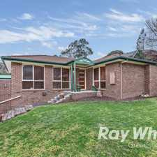 Rental info for Huge Family Home in the Greensborough area