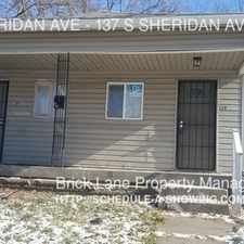 Rental info for 137 S SHERIDAN AVE in the Indianapolis area