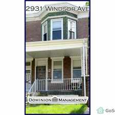 Rental info for End-of-group 3BR/1BA home with a beautiful front porch and lawn. in the Baltimore area