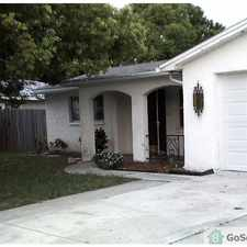 Rental info for Walk-in closet and full bath off master bedroom. Hall bathroom has shower/tub combination. Dining room could be used as third bedroom. Ceiling fans, utility sink in garage, fenced back yard, and community pool available.