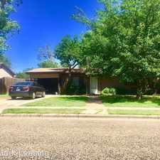 Rental info for 2116 47th Street in the Lubbock area